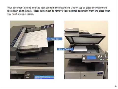 How to Use the Copy Machine