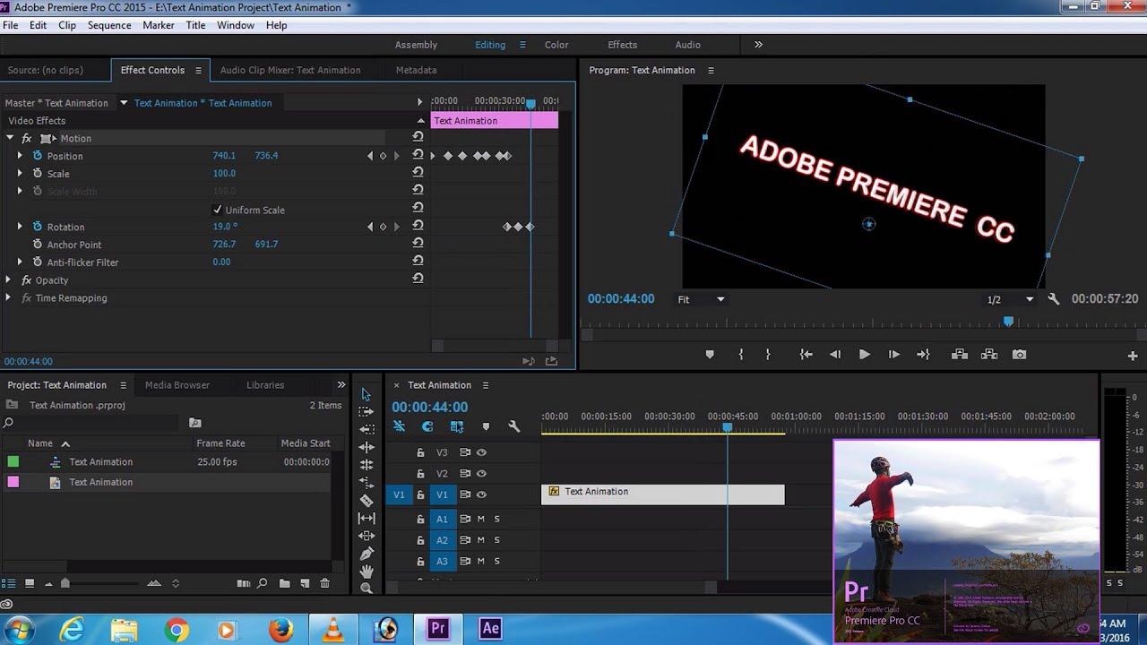 Adobe premiere pro animate text