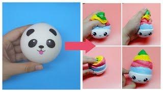 Biến hóa Squishy #1 Squishy Panda / Squishy Makeover / Ami DIY