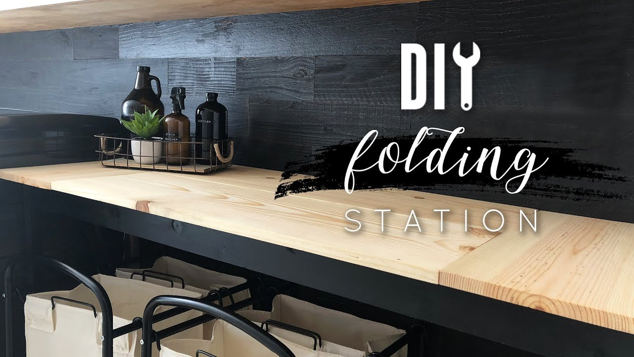 Diy Folding Station For Laundry Room Youtube
