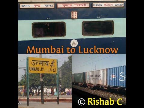 12534 Pushpak Express FULL Journey Mumbai to Lucknow Junction.(C.S.T-L.J.N)