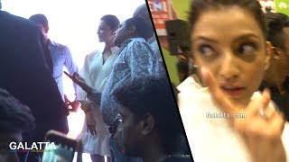 Huge Crowd Surrounds Kajal Aggarwal At Phone Launch