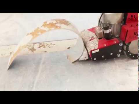Bevorzugt Verklebten PVC Bodenbelag entfernen mit dem ROLL-STRIPPER RO-3 RN35
