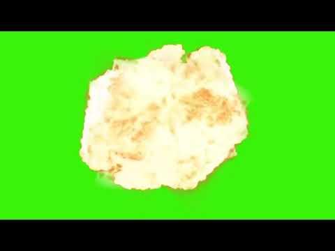 Футаж бомба на зелёном фоне