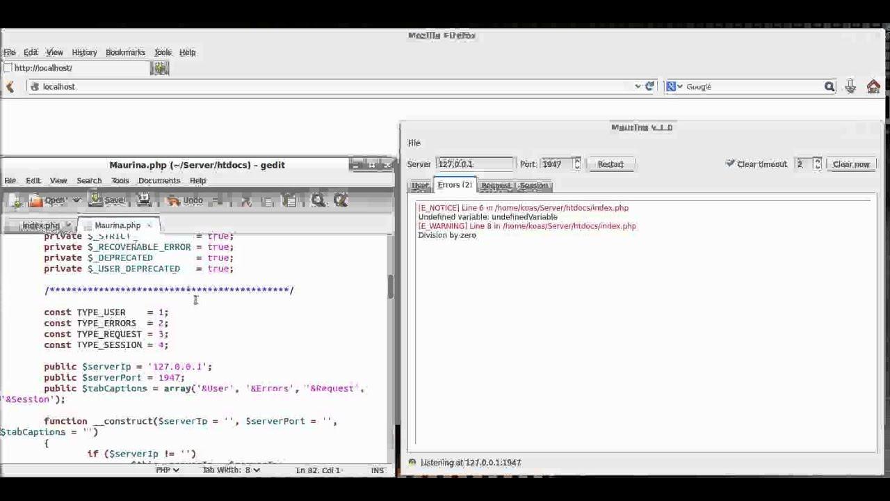 Maurina - Server side languages console