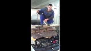 Как снять топливные форсунки Honda?