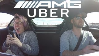 Picking Up UBER Riders In A Chrome AMG! *6 STAR RATING!*