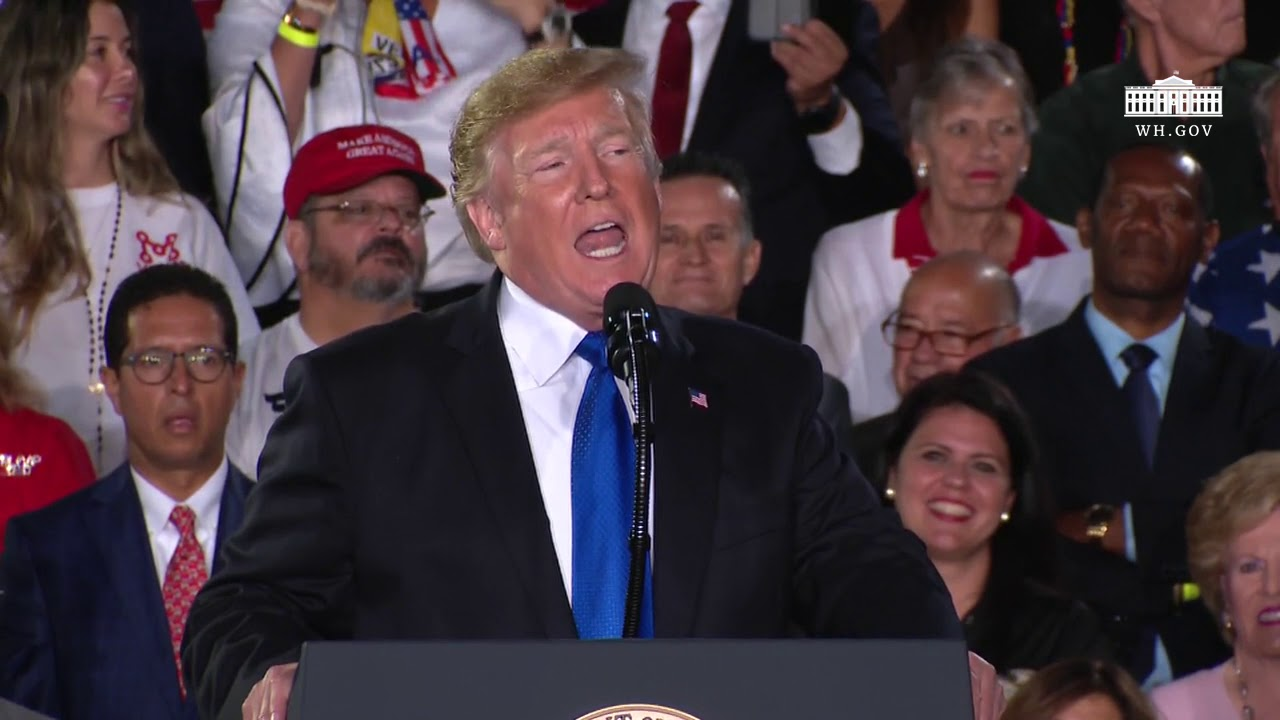 Image result for President Trump Delivers Remarks to the Venezuelan American Community