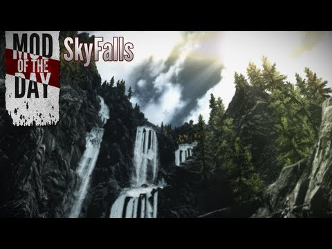Skyrim Mod of the Day - Episode 240: SkyFalls - Animated Distant Waterfalls