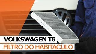 Assista a um guia em vídeo sobre como substituir Sapata de freio de mao em VW TRANSPORTER V Platform/Chassis (7JD, 7JE, 7JL, 7JY, 7JZ, 7FD)