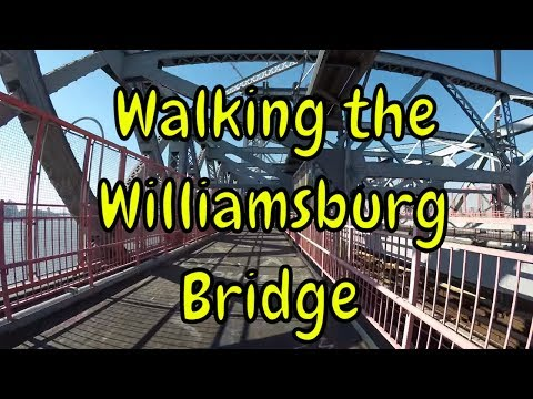 ⁴ᴷ Walking the Williamsburg Bridge to Manhattan from Brooklyn