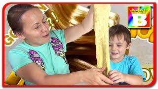 Golden Slime  Facem un slime auriu la Bogdan`s Show