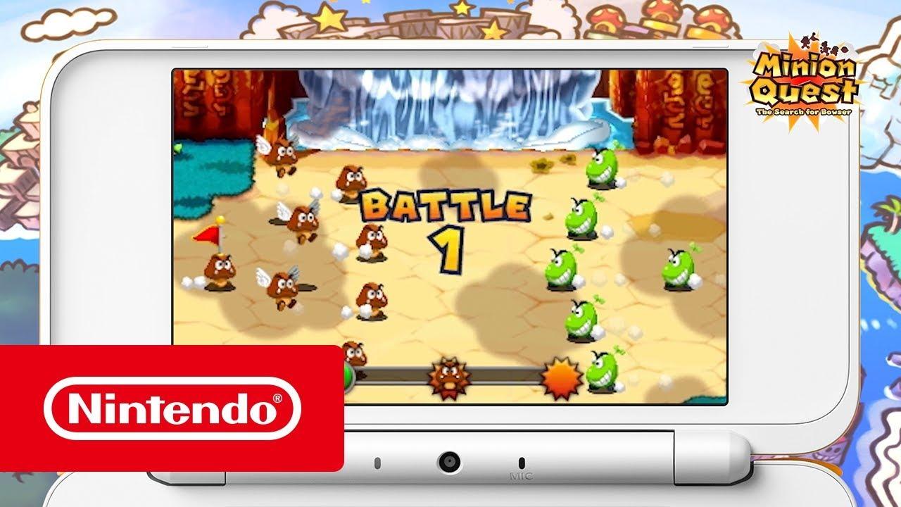 Mario Luigi Superstar Saga Bowser S Minions Trailer Lacaios Do Bowser Nintendo 3ds
