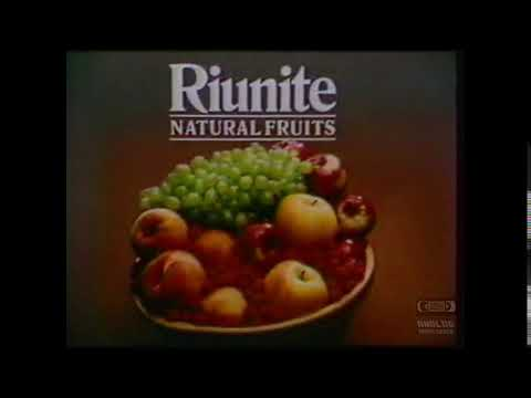 Riunite Natural Fruits  Television Commercial  1988
