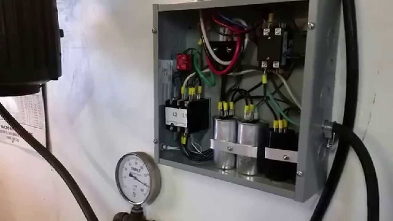 generator starter wiring diagram wny 7 5hp three phase converter review youtube  wny 7 5hp three phase converter review youtube