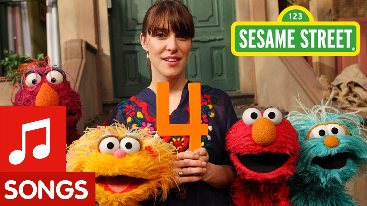 Sesame street feist sings 1 2 3 4 youtube for 1 2 3 4 monsters walking across the floor