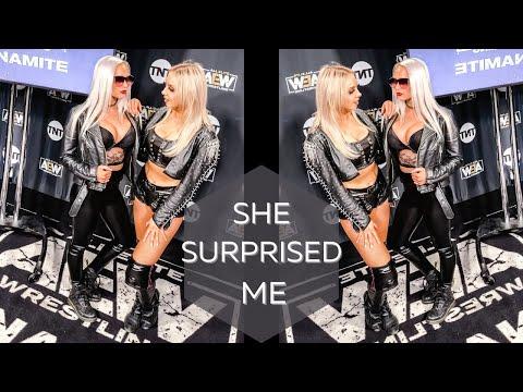 Penelope Ford Surprised Me | AEW Backstage Vlog
