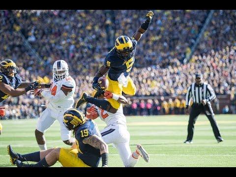 Michigan Football Highlights -- U-M 41, Illinois 8