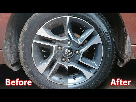 How to clean dirty tyre's without any professional wash