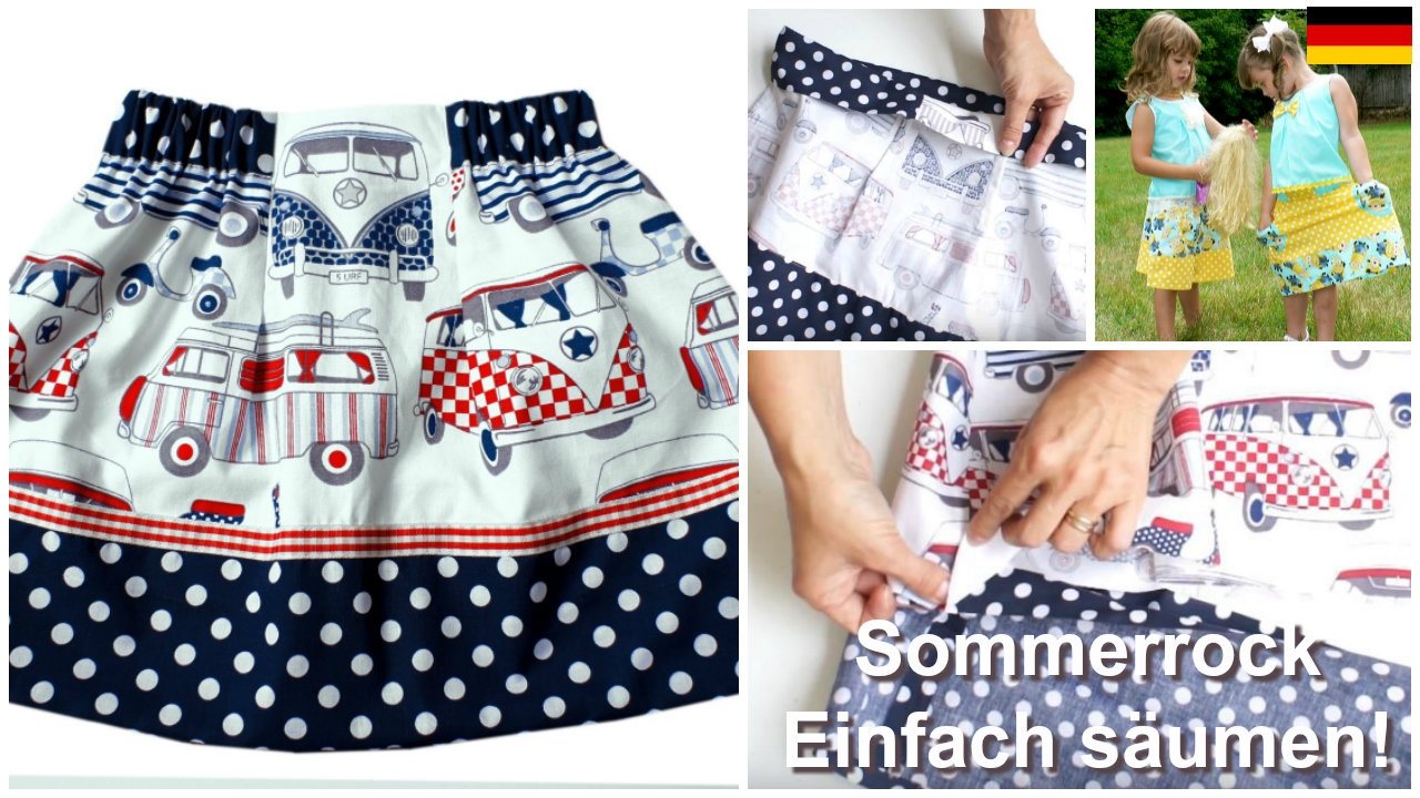 Wie man einen Rock näht - ohne Kettelmaschine (Easy Summer Skirt ...