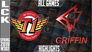 SKT vs GRF Highlights ALL GAMES   LCK Spring 2019 Week 3 Day 2   SK Telecom T1 vs Griffin