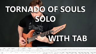 Megadeth - Tornado of Souls Solo with Tab