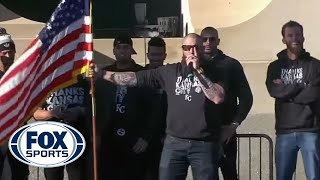 Jonny Gomes Gives Incredible Speech At Kansas City Royals Victory Parade