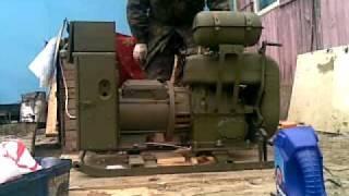 Запуск генератора  с двигателем УД2 М1(, 2011-10-23T18:53:56.000Z)