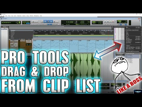 Pro Tools | Drag and Drop from the Clip List LIKE A BOSS