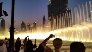 Burj Khalifa, Night View Fountain Dancing Dubai Asif Ahmed