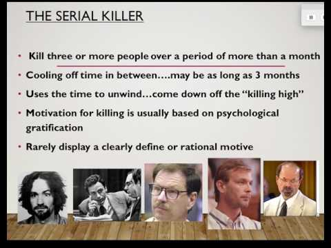 Lecture 6 -   Serial Killers