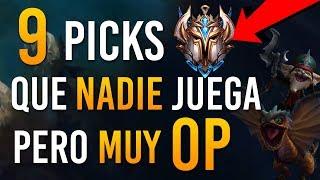 ¡LOS 9 PICKS  MÁS OP QUE CASI NADIE CONOCE! | Guía LOL S9 | LOL en Español