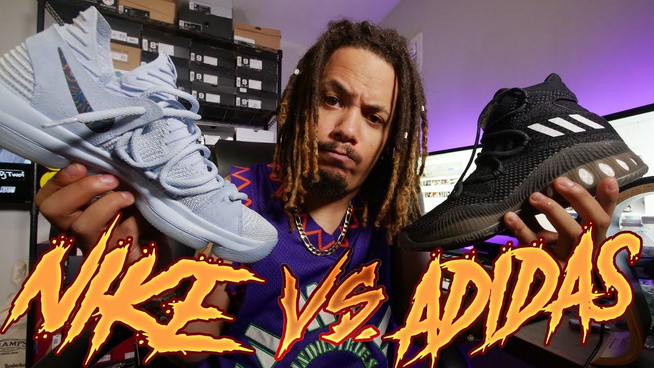 nike vs adidas basketball shoes