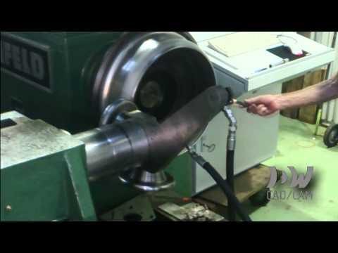 Spun aluminium wheel rim close-up