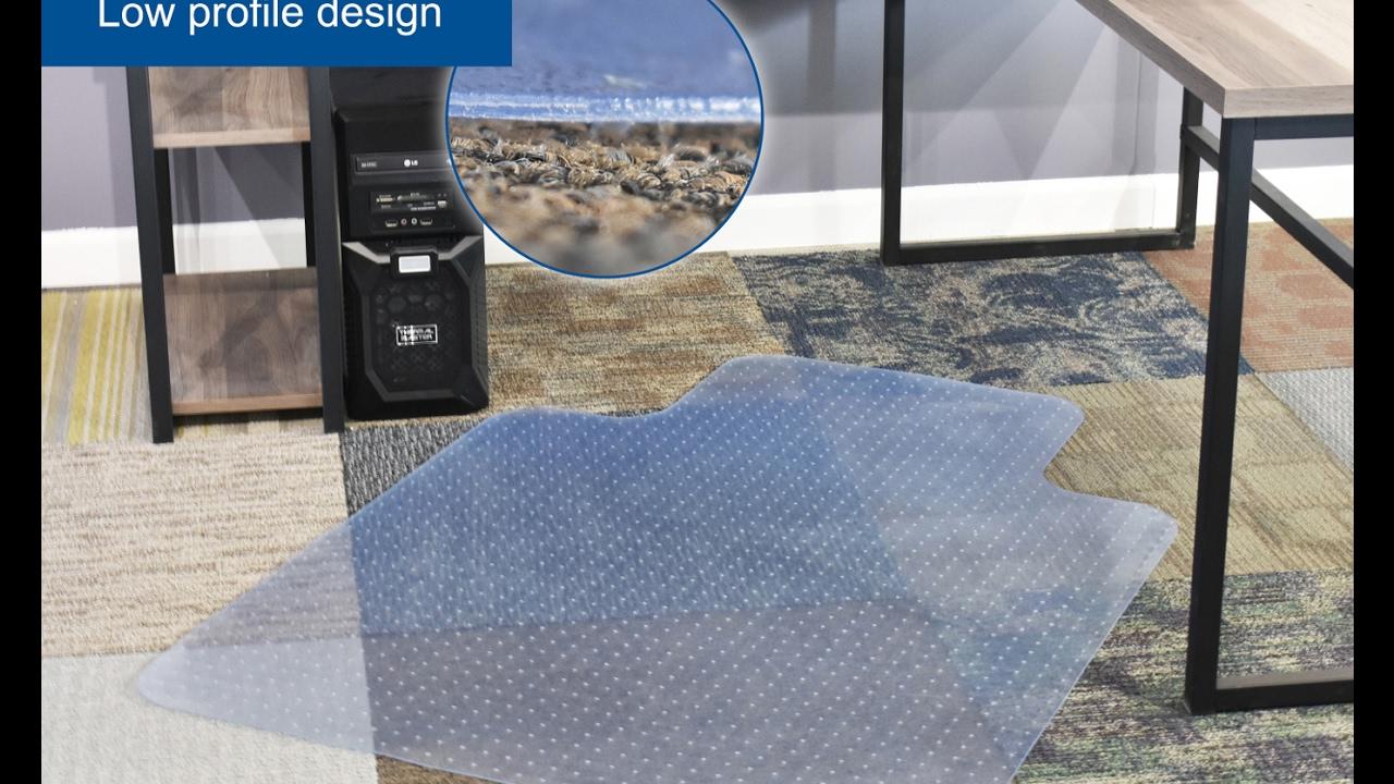 vivo clear computer chair protective carpet floor cover mat matc047