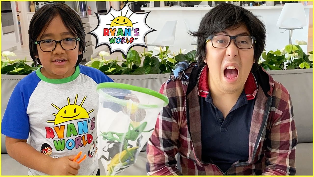 Ryan pretend play catching and learning about Bugs with 1 hr education for kids!!!