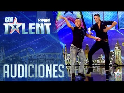 Lovely salsa dance with David and Javier  Auditions 6  Spain's Got Talent 2016