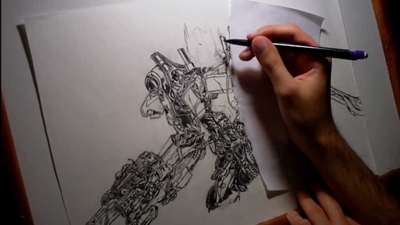 Optimus Prime Speed Drawing Youtube