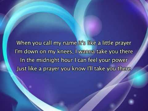 Madonna - Like A Prayer, Lyrics In Video