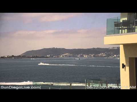 Carl Vinson Carrier Strike Group departing San Diego 8/22/2014 [Tom Ham's East cam] 1 of 3
