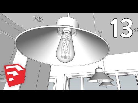 EDISON BULB & LIGHT FIXTURE - Dramatic Contemporary House Pt. 13