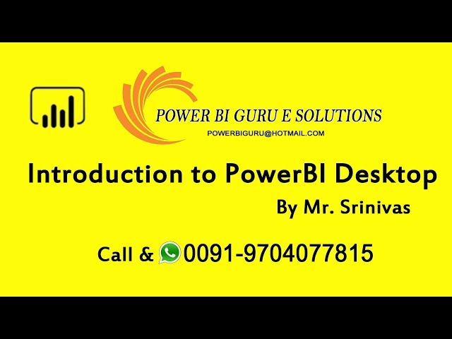 Introduction to PowerBI -Session 2|Power BI Training in India,Dubai,US,canada,UK,australia,Singapore