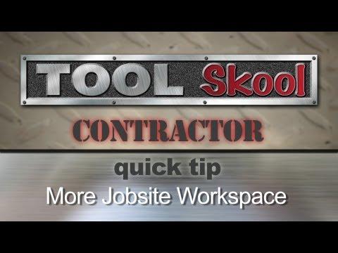 Portable Jobsite Utility Work Table - Contractor Tip
