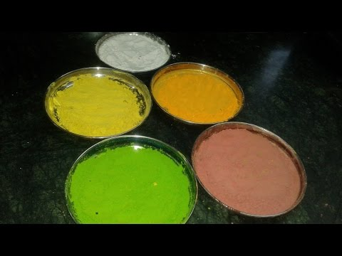 HOMEMADE NATURAL HOLI COLOURS BY PARUL SARAF
