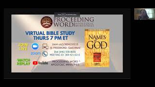 2021_0401 PWAM Bible Study: Names of God - PART 4