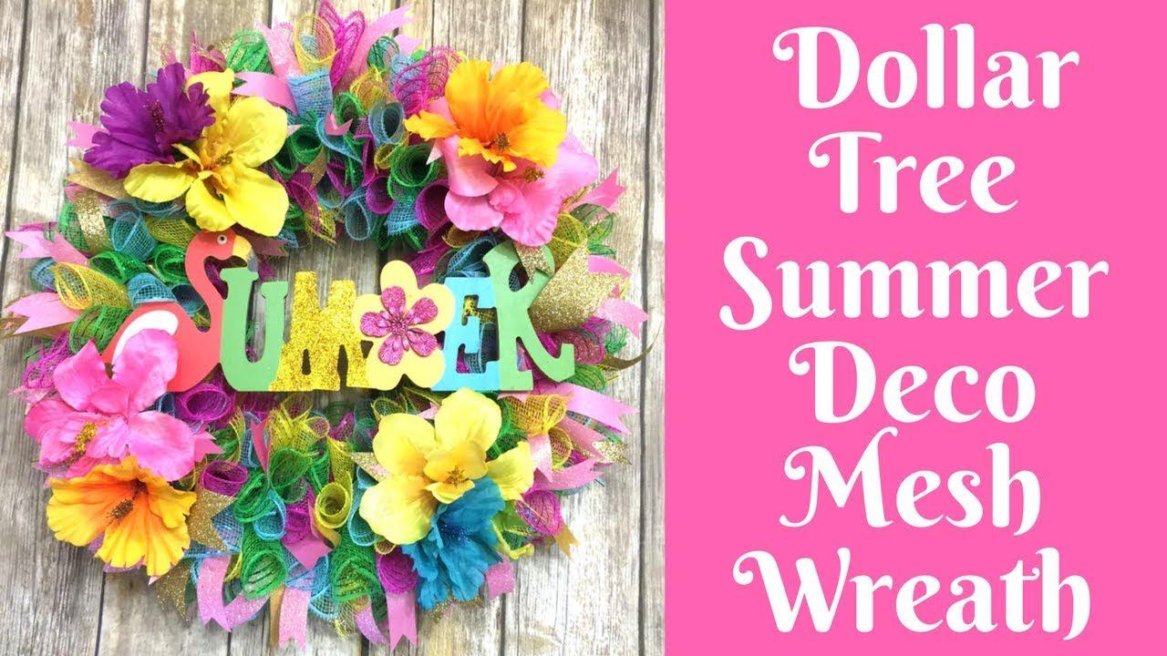 Wonderful Wreaths Dollar Tree Summer Deco Mesh Wreath Youtube
