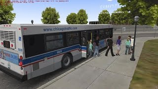 OMSI 2 The Bus Simulator - Chicago Downtown First Look HD