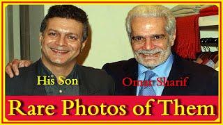 شاهد.. صور نادرة للراحل عمر الشريف وابنه وحفيده