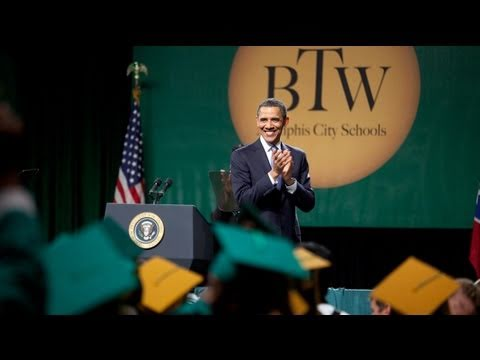 President Obama Gives Commencement Address at Booker T. Washington High School