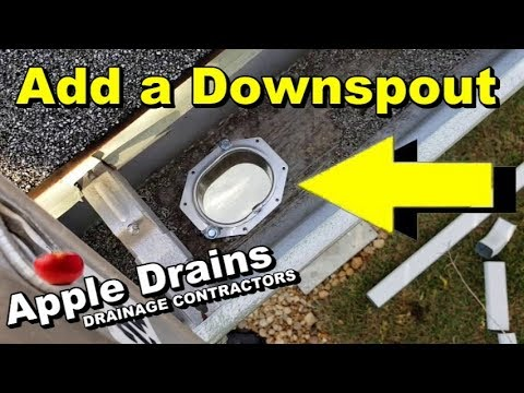 How To Add A Downspout Your Gutter You